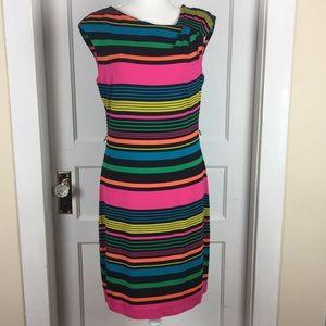 Calvin Klein Striped Dress Size 6